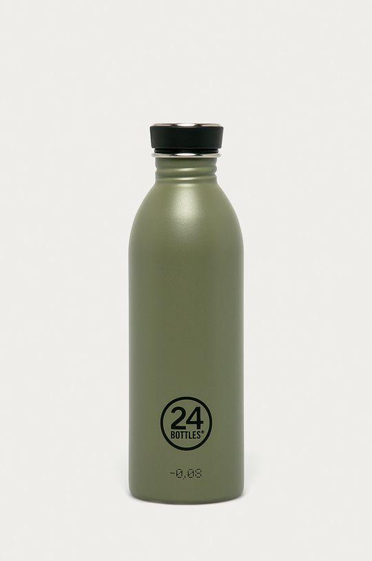 oliwkowy 24bottles - Butelka Urban Bottle Sage 500ml Męski