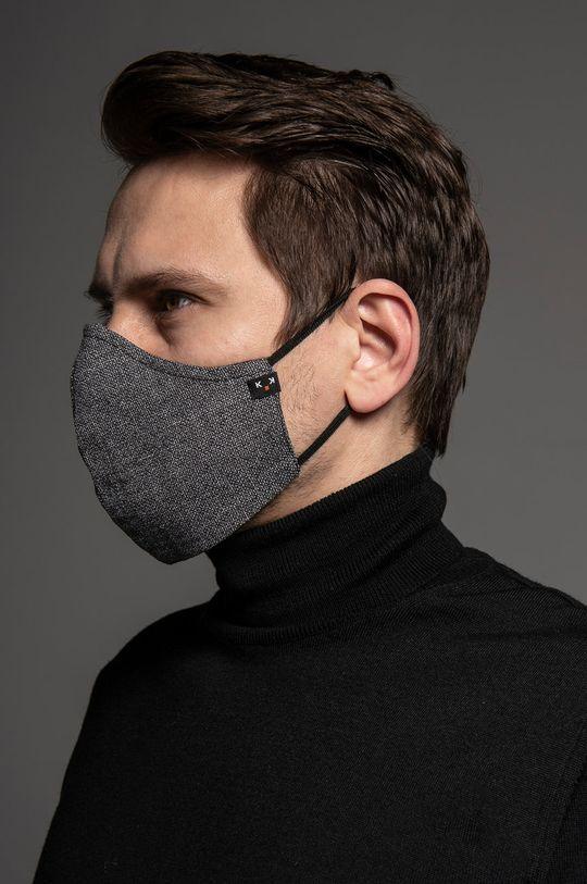 Maskka - Maseczka ochronna Heritage Materiał 1: 70 % Bawełna, 30 % Len, Materiał 2: 100 % Bambus
