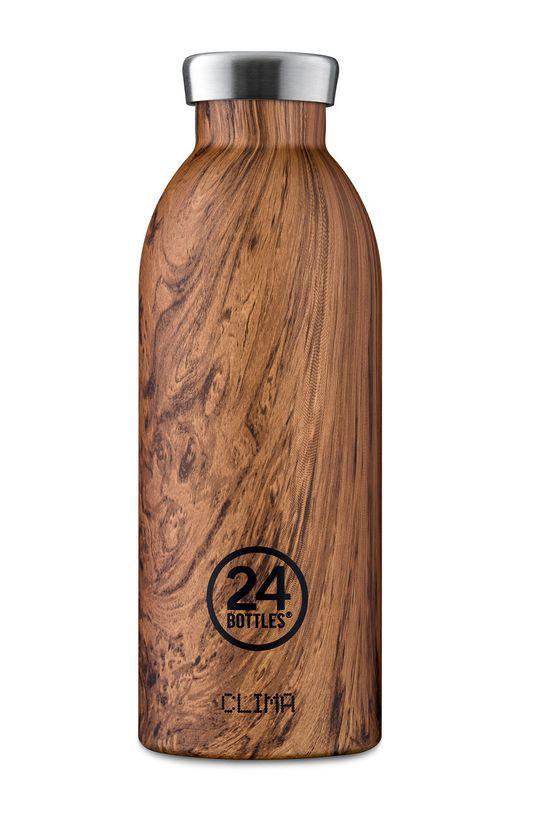 brązowy 24bottles - Butelka termiczna Clima Sequoia Wood 500ml Unisex