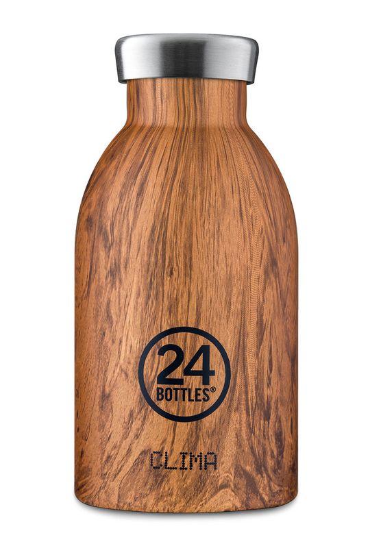 brązowy 24bottles - Butelka termiczna Clima Sequoia Wood 330ml Unisex