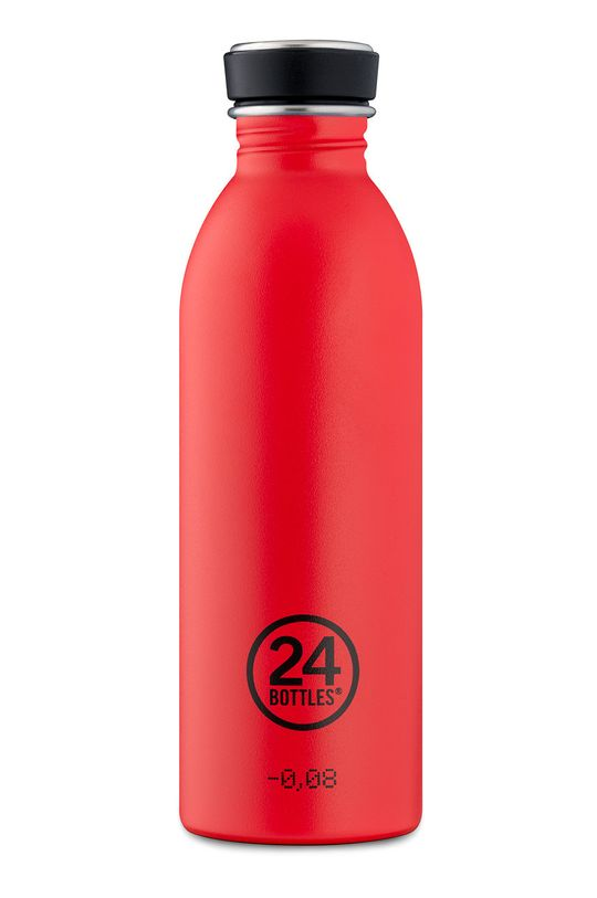 czerwony 24bottles - Butelka Urban Bottle Hot Red 500ml Unisex