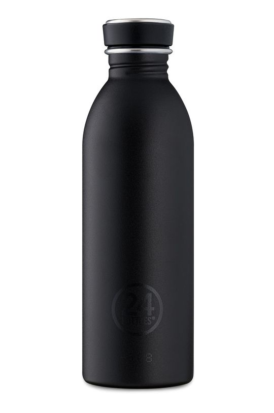 czarny 24bottles - Butelka Urban Bottle Tuxedo Black 500ml Unisex