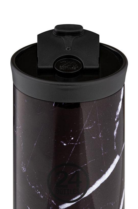 24bottles - Kubek termiczny Travel Tumbler Black Marble 350ml czarny