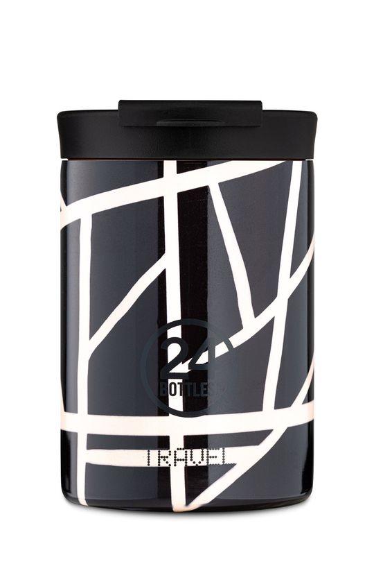 czarny 24bottles - Kubek termiczny Travel Tumbler Crossroads 350ml Unisex