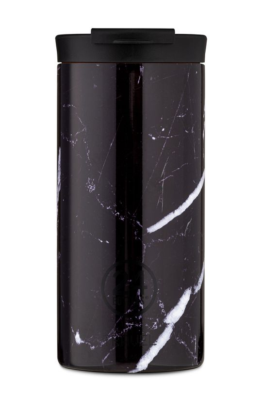 czarny 24bottles - Kubek termiczny Travel Tumbler Black Marble 600ml Unisex