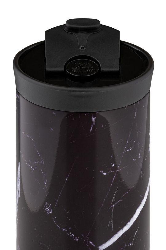 24bottles - Kubek termiczny Travel Tumbler Black Marble 600ml czarny