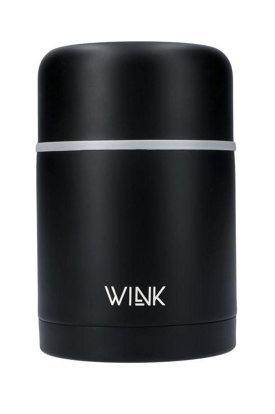 czarny Wink Bottle - Termos na jedzenie BLACK Unisex