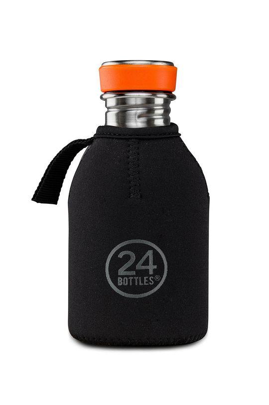 czarny 24bottles - Etui na butelkę Thermal Cover 250ml Unisex