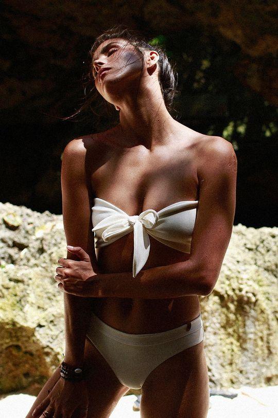 biały MUUV - Figi kąpielowe Classic Bikini Damski