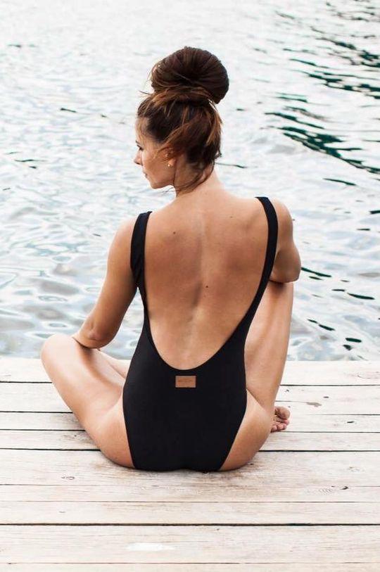 MUUV. - Strój kąpielowy V Swimsuit czarny