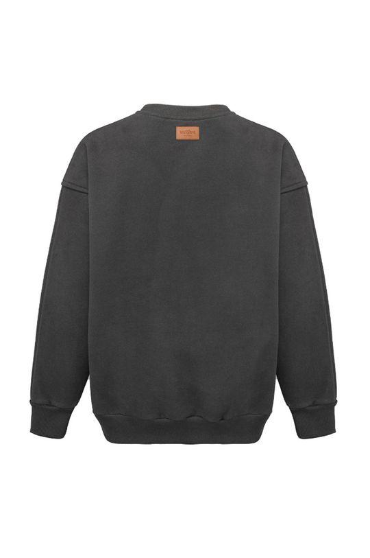 szary MUUV - Bluza bawełniana Soft Touch