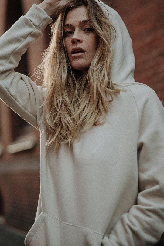 kremowy MUUV - Bluza bawełniana Smooth Cotton Damski