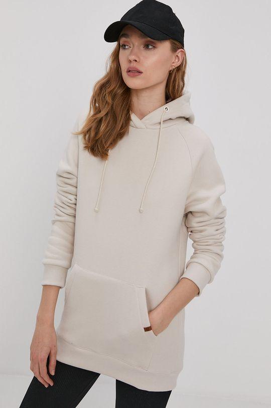 kremowy MUUV - Bluza bawełniana Smooth Cotton