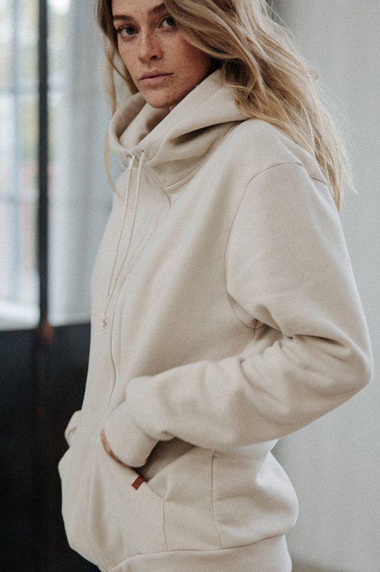 MUUV - Bluza bawełniana Smooth Cotton kremowy