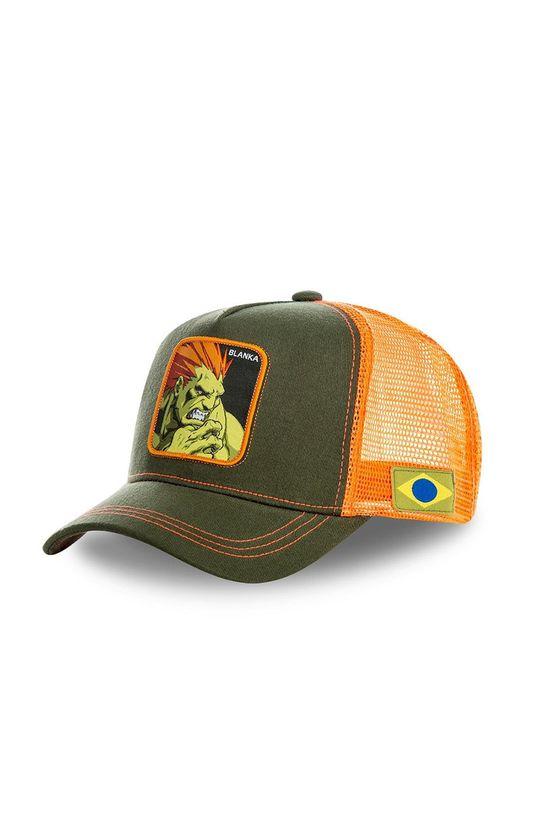 brudny zielony Capslab - Czapka z daszkiem Męski