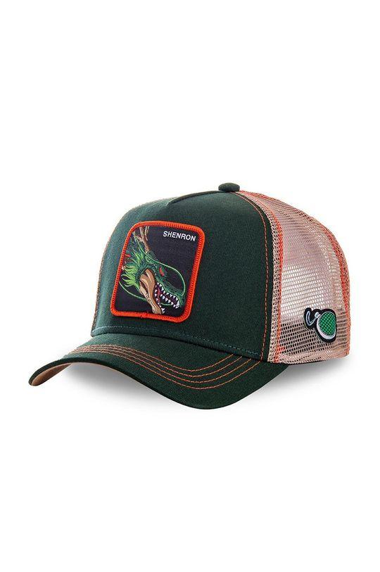 ciemny zielony Capslab - Czapka z daszkiem Męski