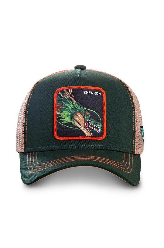 Capslab - Czapka z daszkiem ciemny zielony