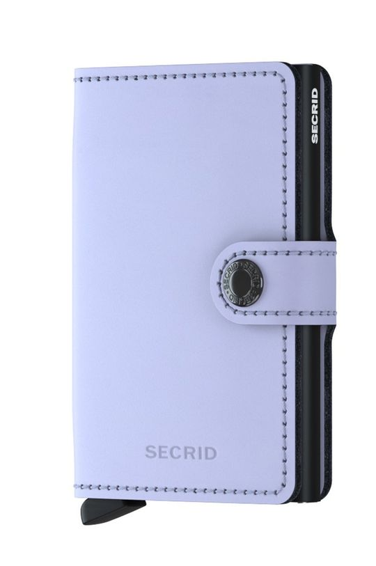 Secrid - Portfel skórzany winogronowy