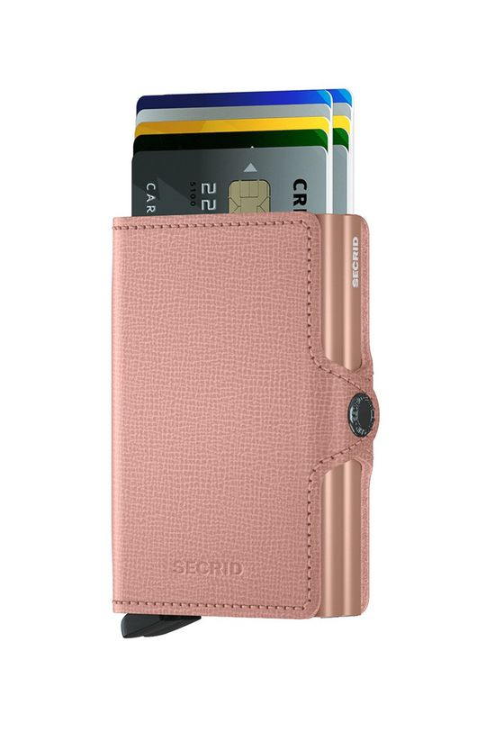 ružová Secrid - Kožená peňaženka Dámsky