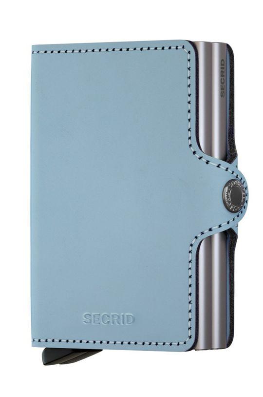 Secrid - Portfel skórzany jasny niebieski