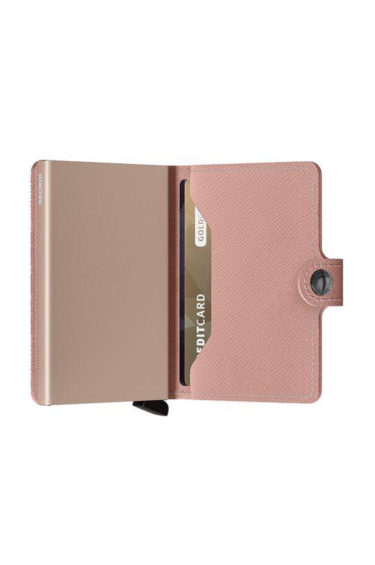 ružová Secrid - Kožená peňaženka