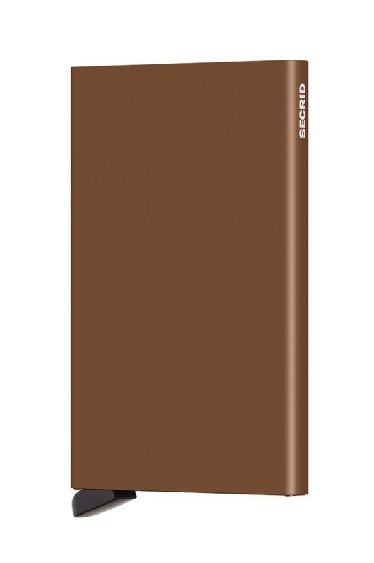 brązowy Secrid - Portfel Męski
