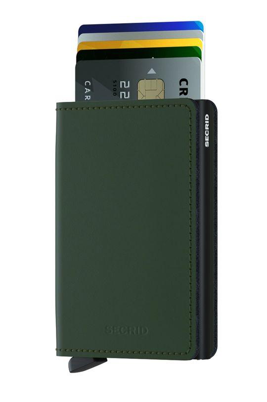 Secrid - Portfel skórzany ciemny zielony