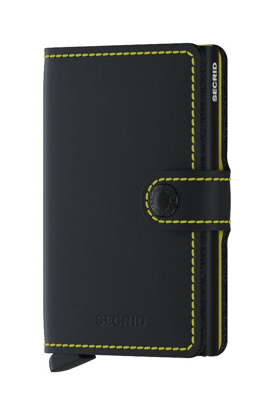 czarny Secrid - Portfel skórzany Unisex