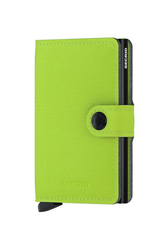żółto - zielony Secrid - Portfel MY.Lime Unisex