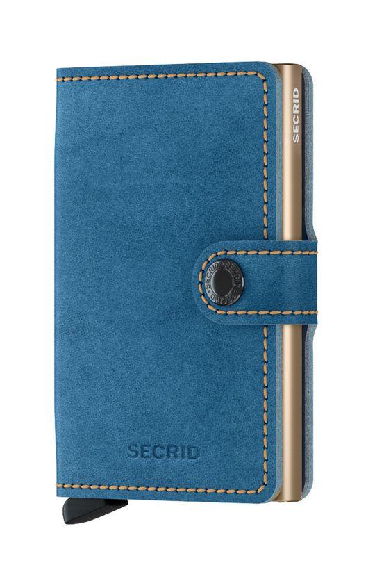 niebieski Secrid - Portfel skórzany Unisex