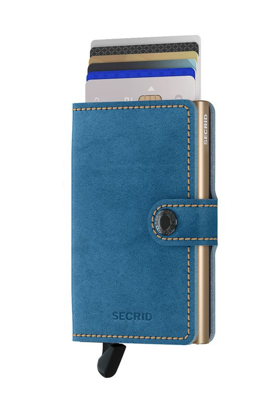 Secrid - Portfel skórzany niebieski