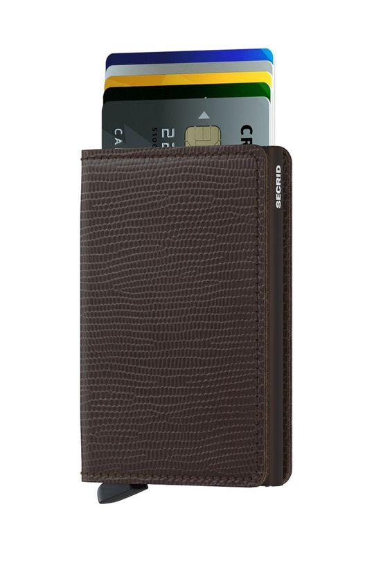 brązowy Secrid - Portfel skórzany Unisex