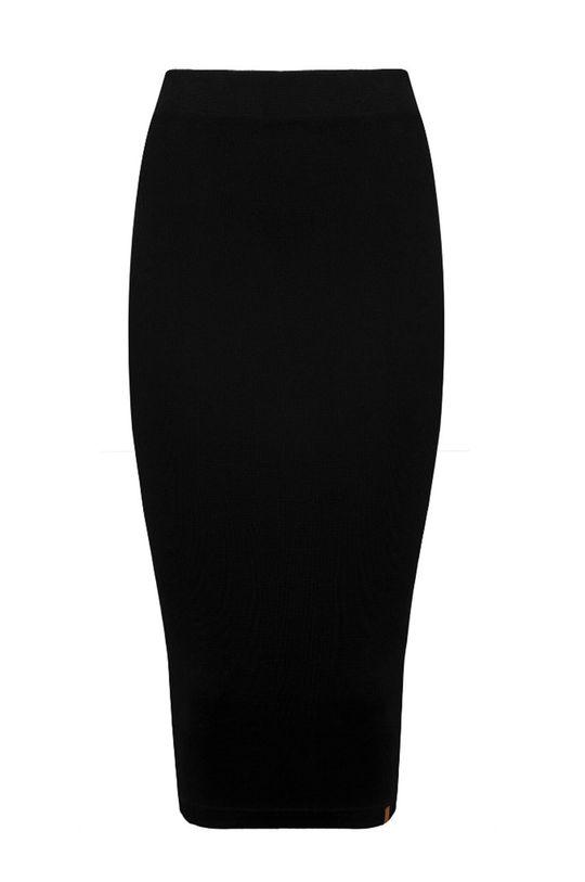 MUUV - Sukňa Ribbed High Waist čierna