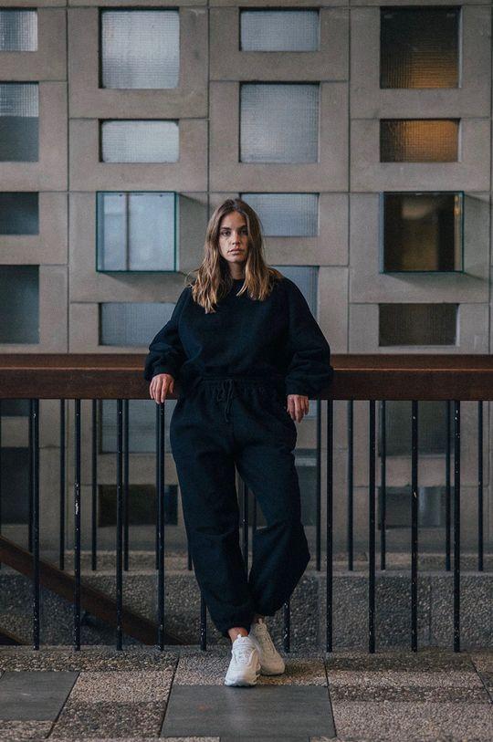 negru MUUV - Pantaloni Smooth Cotton De femei