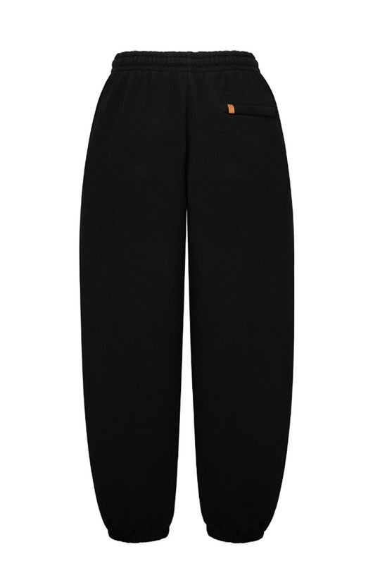 negru MUUV - Pantaloni Smooth Cotton