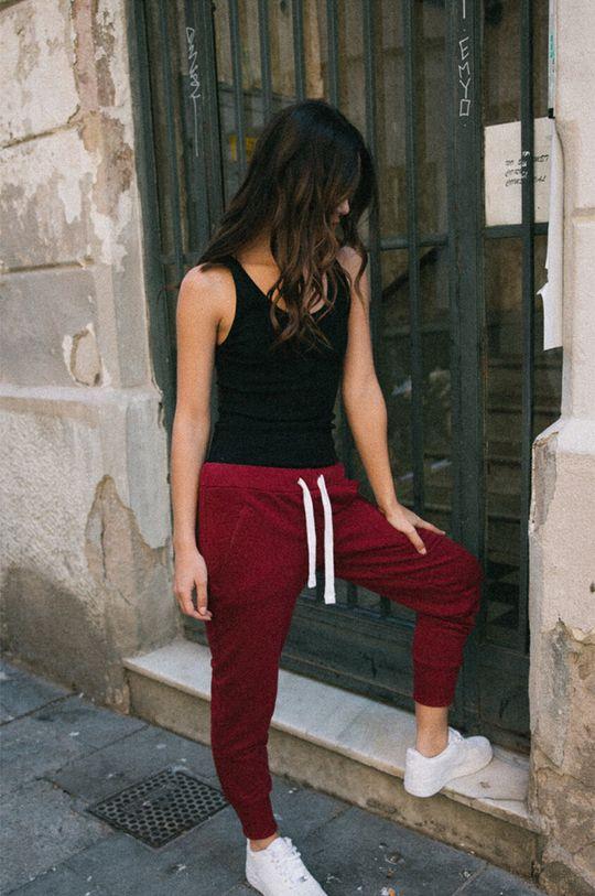 sýtočervená MUUV - Nohavice Sneaker Girl Dámsky