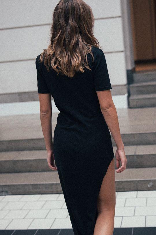 MUUV - Šaty Side Slit čierna