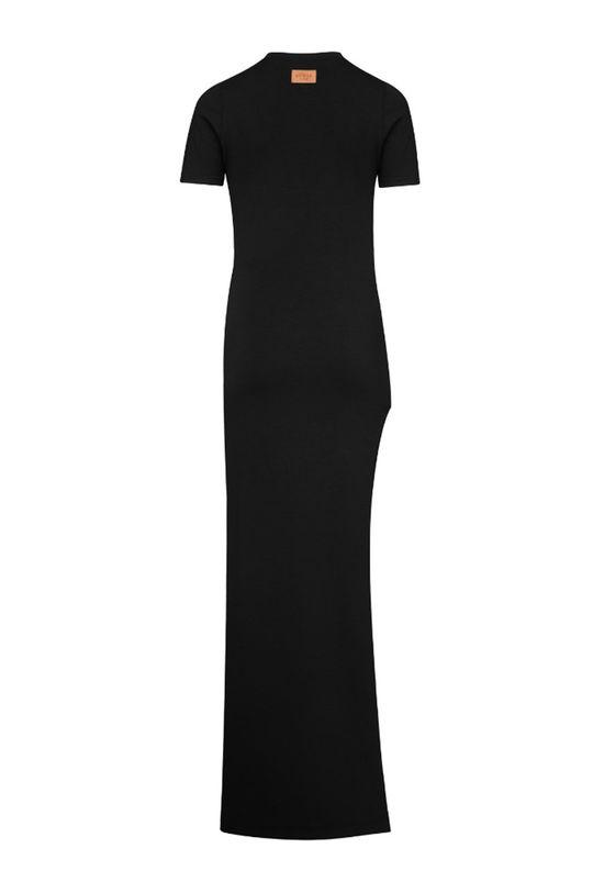 čierna MUUV - Šaty Side Slit