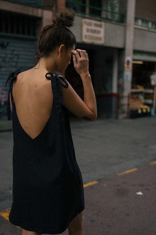 MUUV - Rochie Backless Bow negru