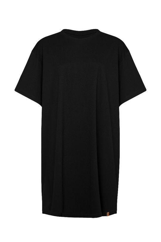 čierna MUUV - Šaty Boyfriends Tshirt