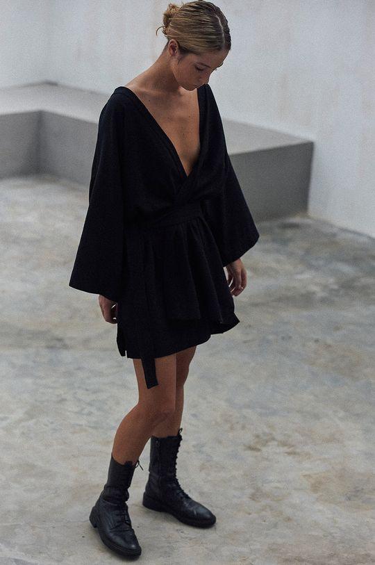 czarny MUUV. - Sukienka Maison Mahali Damski