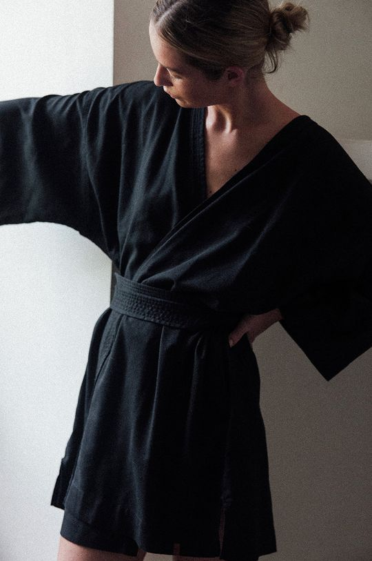 MUUV. - Sukienka Maison Mahali 5 % Bawełna, 25 % Len, 30 % Poliester, 40 % Wiskoza