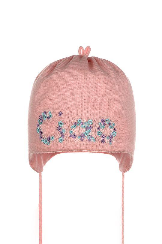 růžová Giamo - Dětska čepice Dívčí