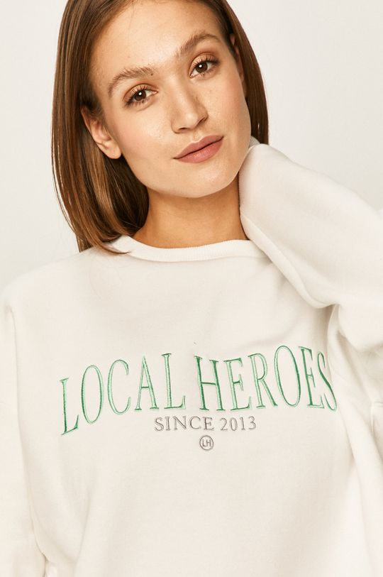 biały Local Heroes - Bluza