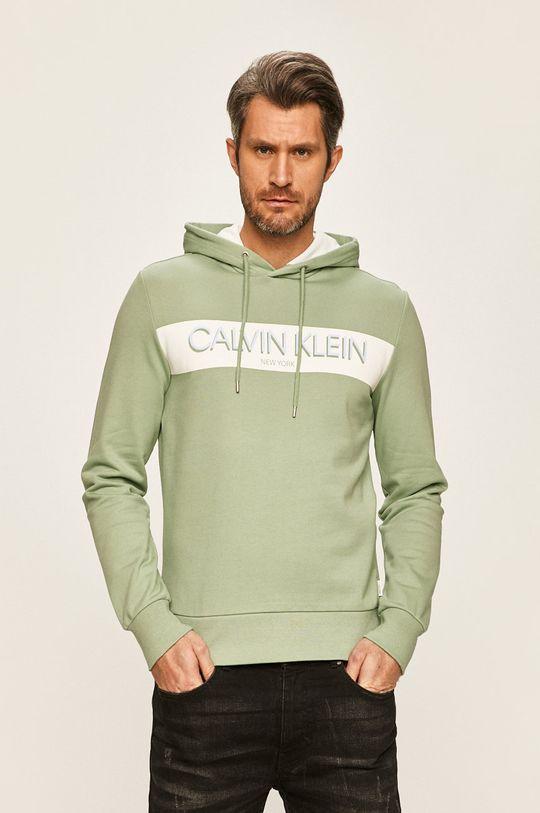 světle zelená Calvin Klein - Mikina Pánský