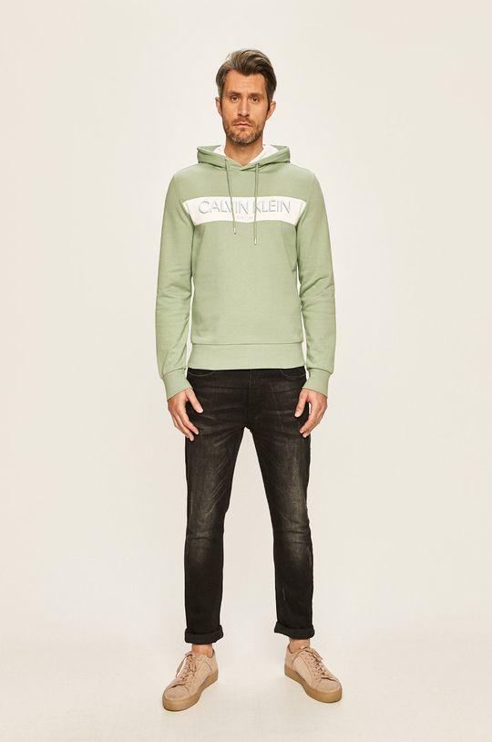 Calvin Klein - Mikina světle zelená