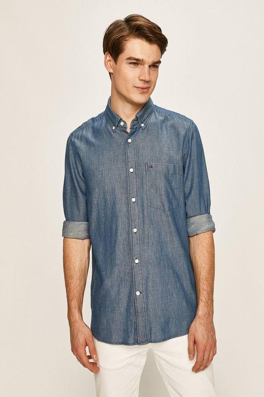 tmavomodrá Calvin Klein - Rifľová košeľa Pánsky