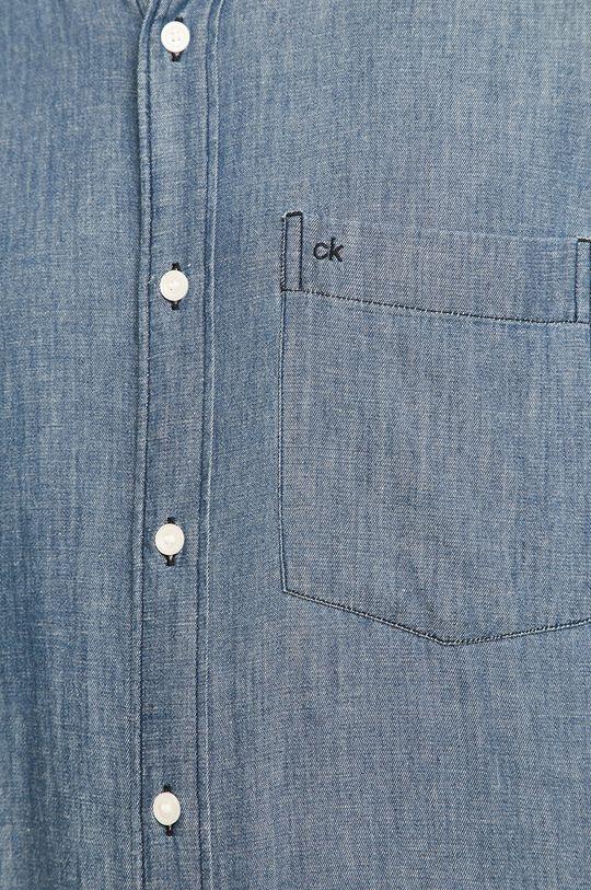 Calvin Klein - Rifľová košeľa tmavomodrá