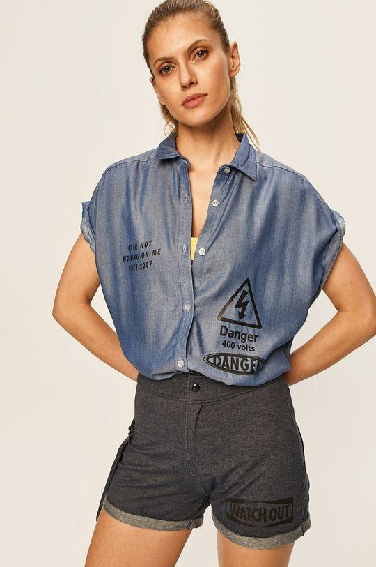 albastru metalizat LaBellaMafia - Camasa De femei