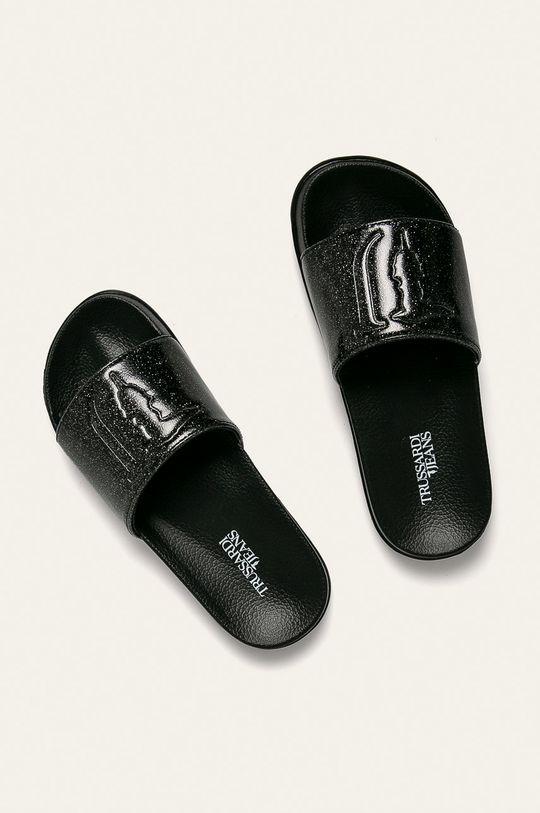 Trussardi Jeans - Klapki czarny
